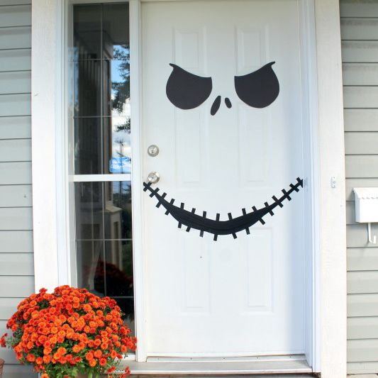 Jack Skellington Halloween front door