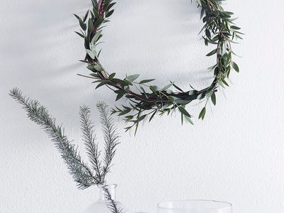 simple wreath made of greenery