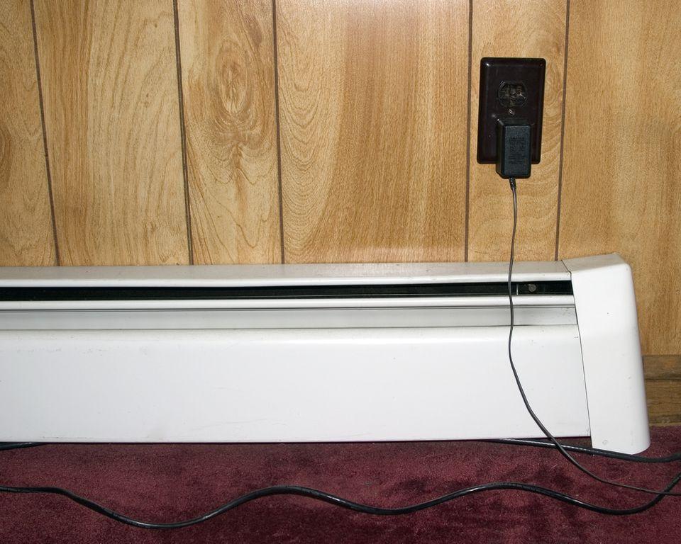 A baseboard heater