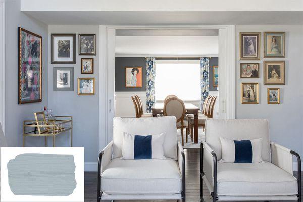 Interior using a color similar to Farrow & Ball's Parma Gray