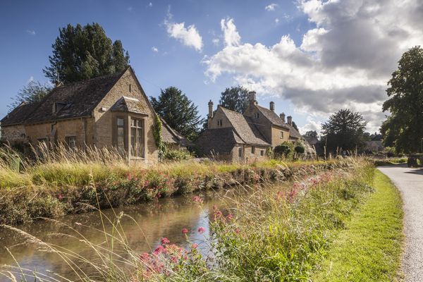 Typical Cotswolds stone houses in Lower Slaughter.