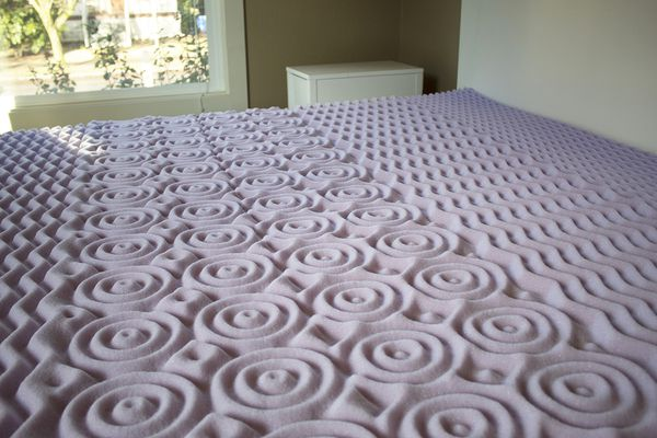 Lucid 2-Inch Zoned Lavender Mattress Topper