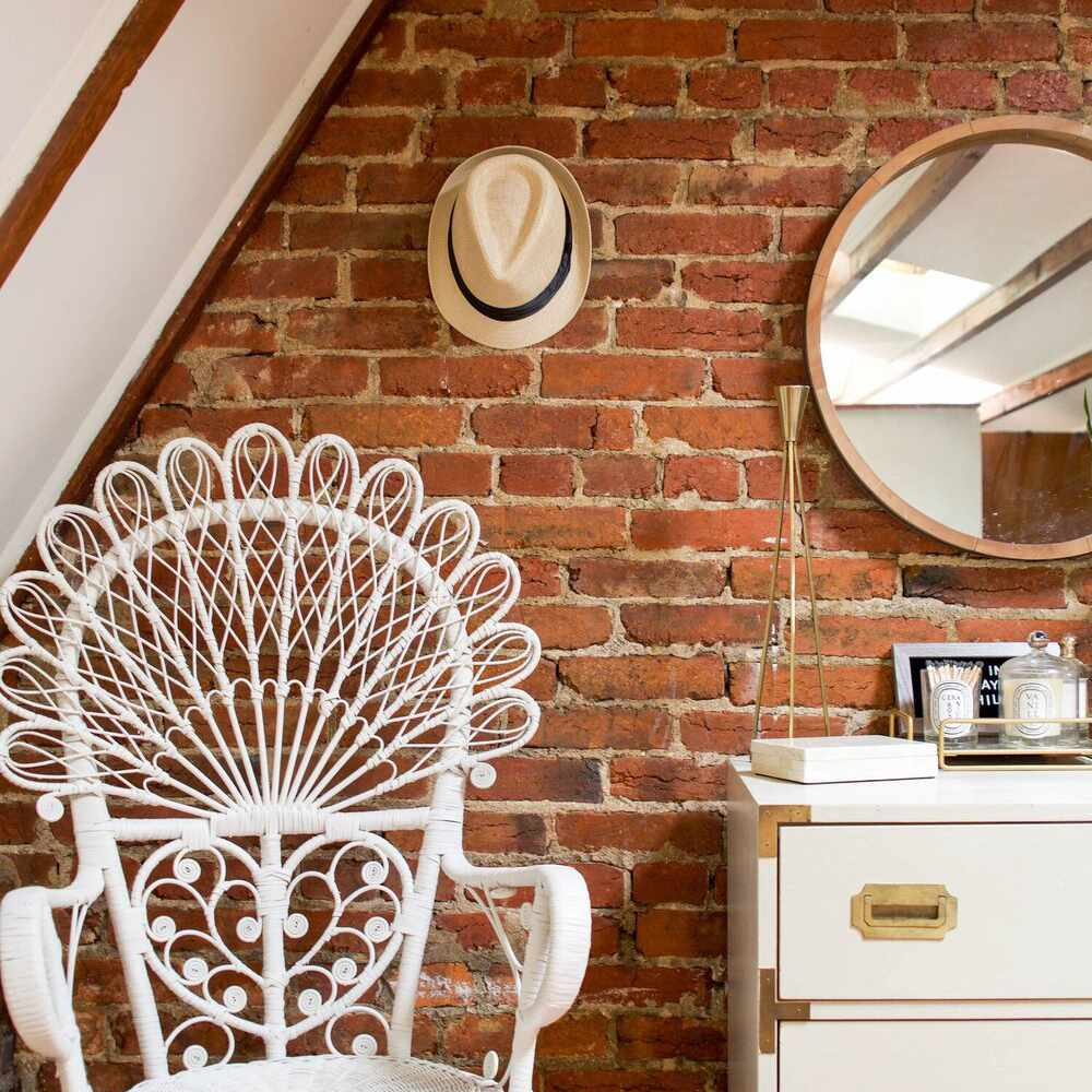 exposed brick and neutrals