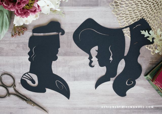 DIY Disney Silhouette Nursery Art