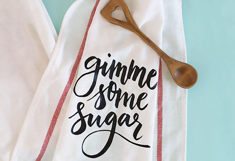Toalla para platos de azúcar de bricolaje