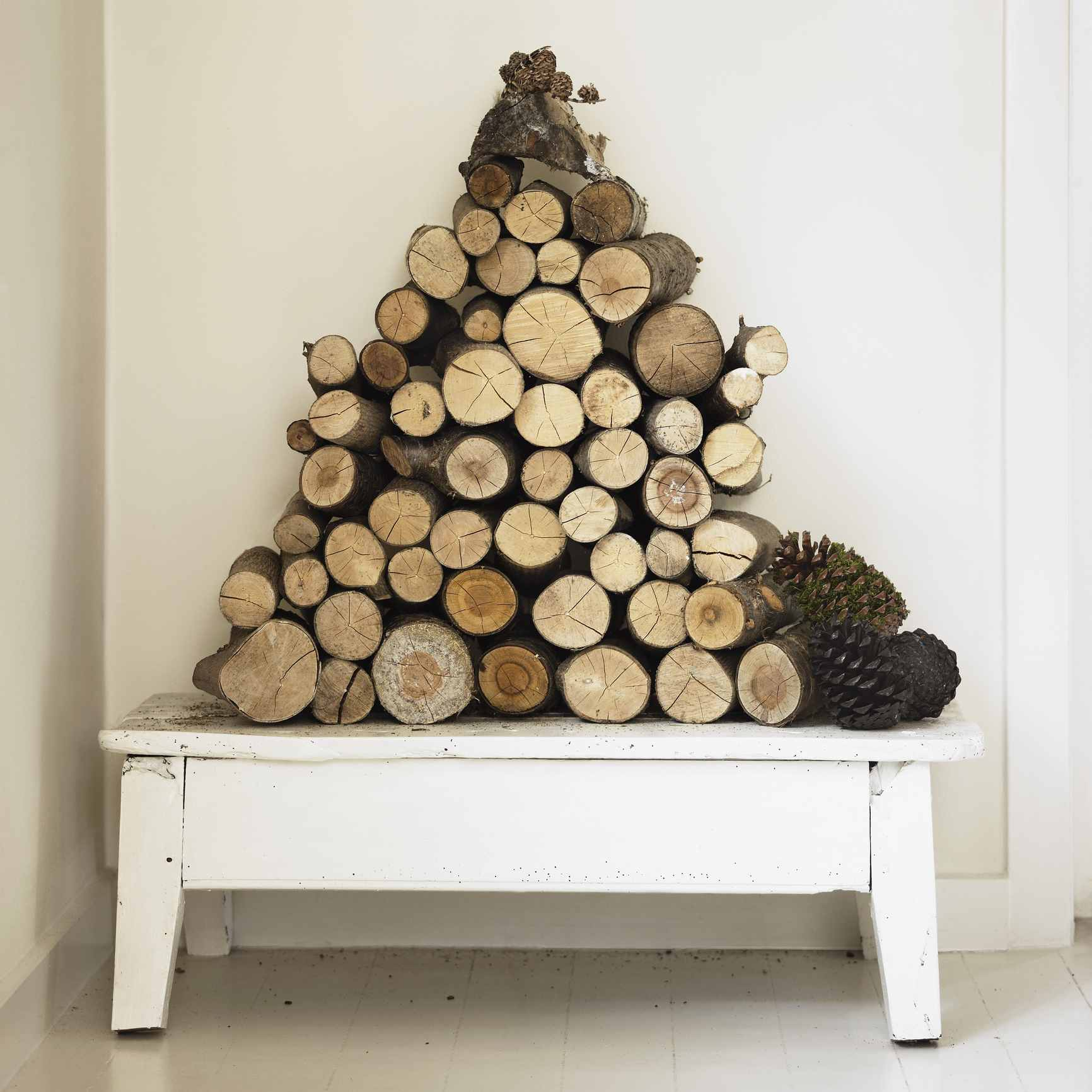 Artfully displayed logs