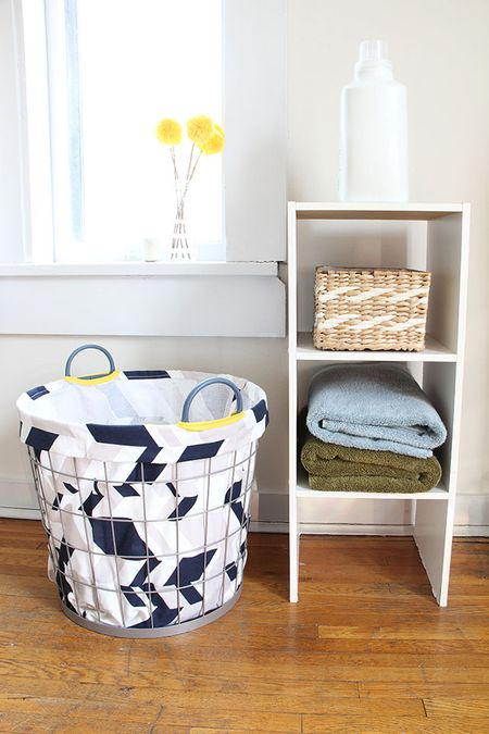 DIY Fabric Laundry Basket Liner