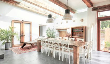 Wood Beams in a House