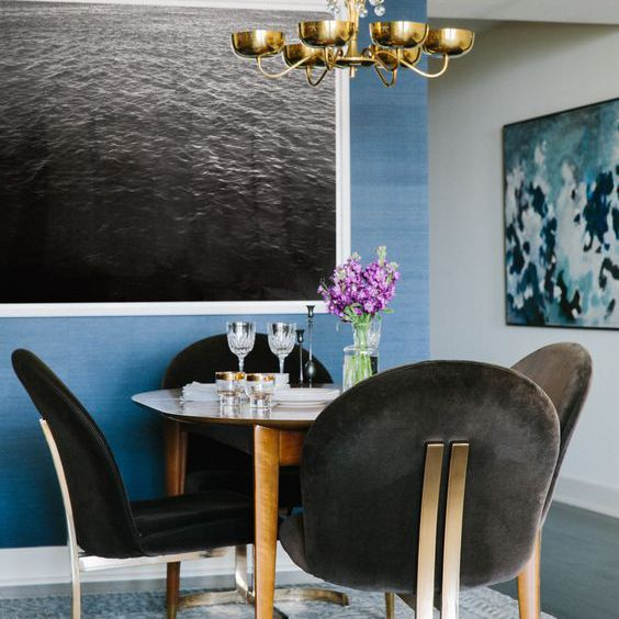 Statement Seating in a Dining Room