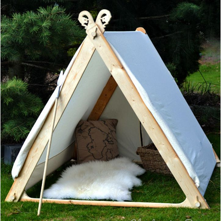 A viking style play tent