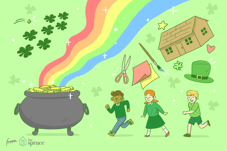 illustration of St. Patrick's Day games