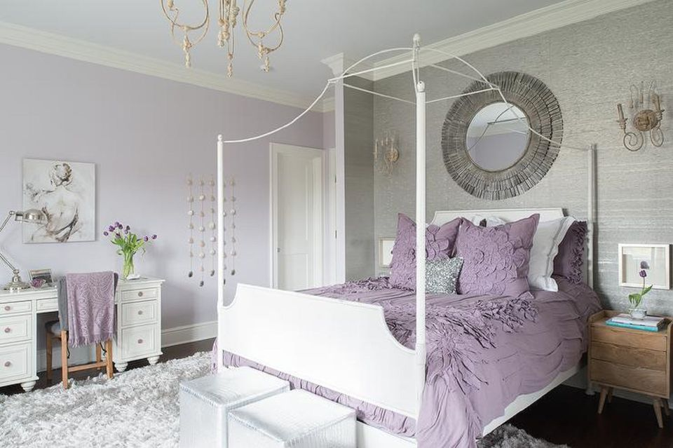decorating bedrooms with purple