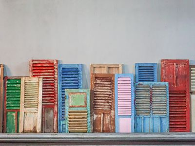 Colorful old shutters