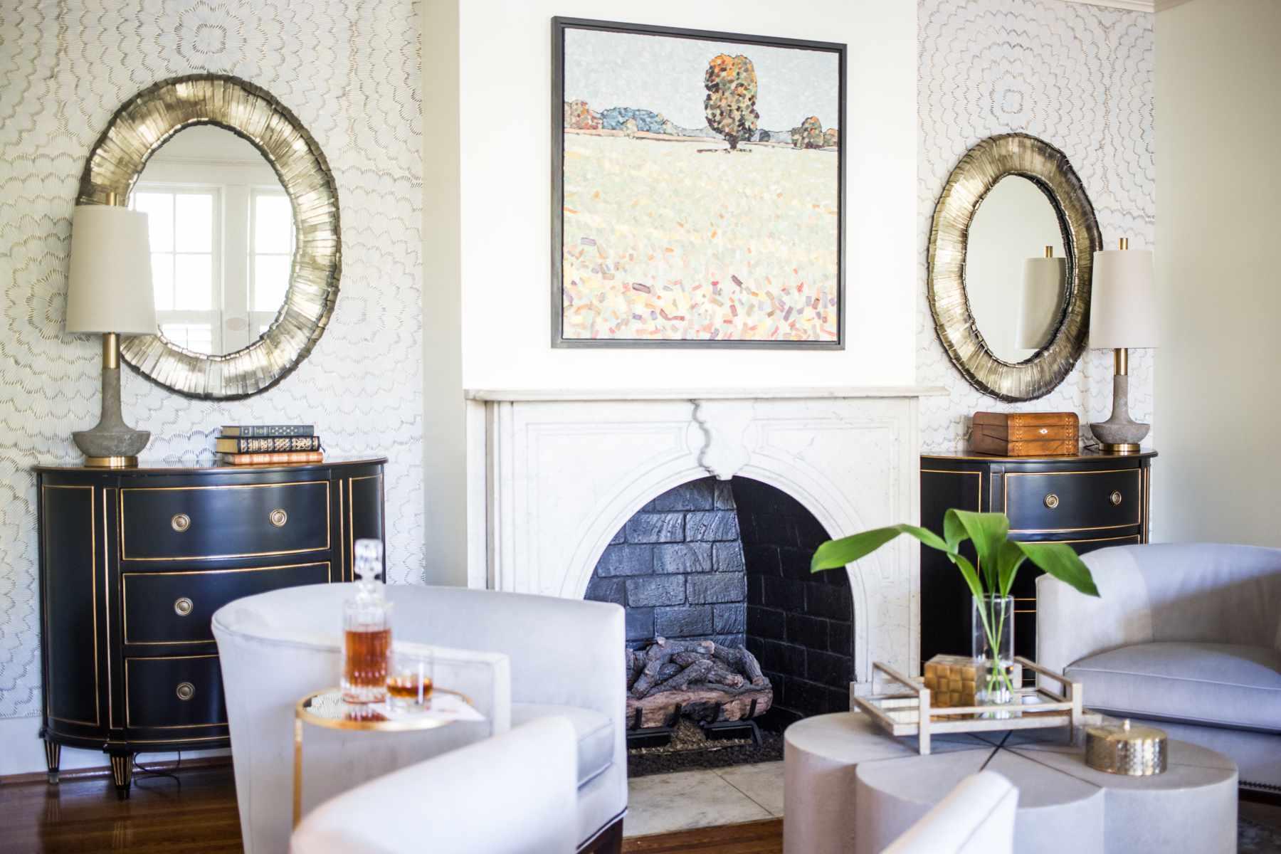 symmetrical traditional interior design