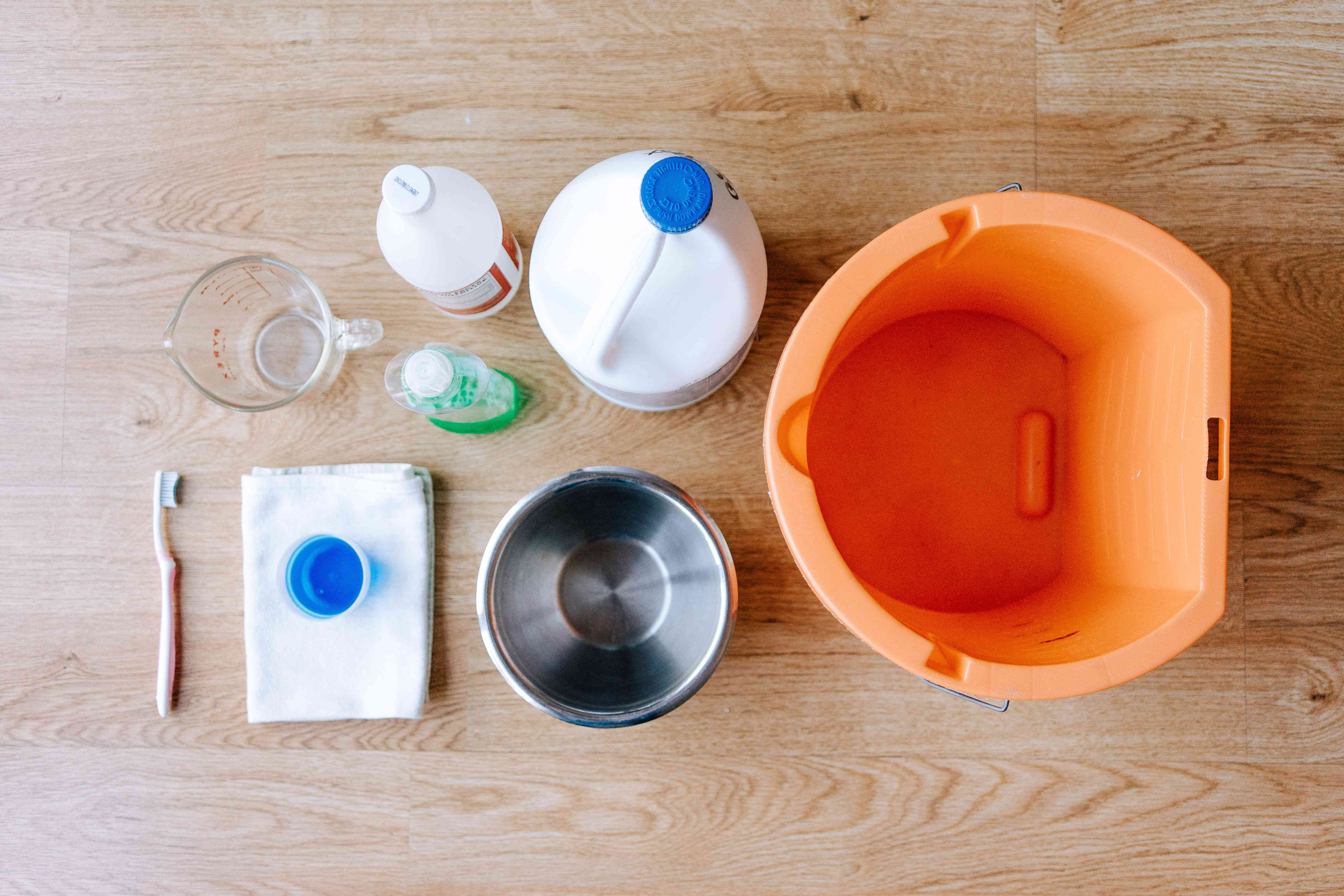 materials for cleaning a top-loading washer