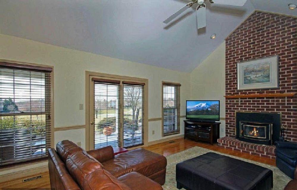Before - Large Brick Fireplace
