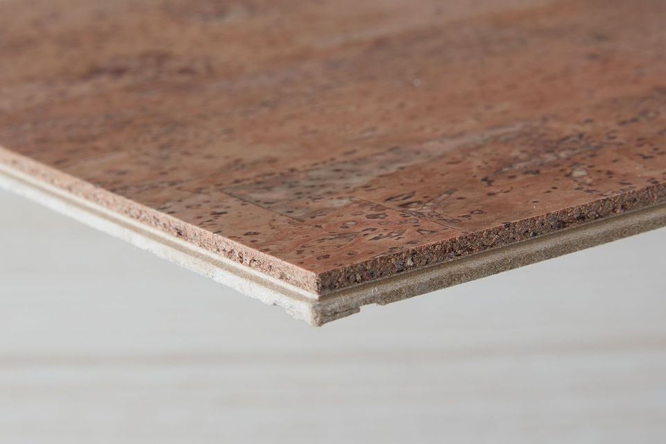 closeup of cork flooring