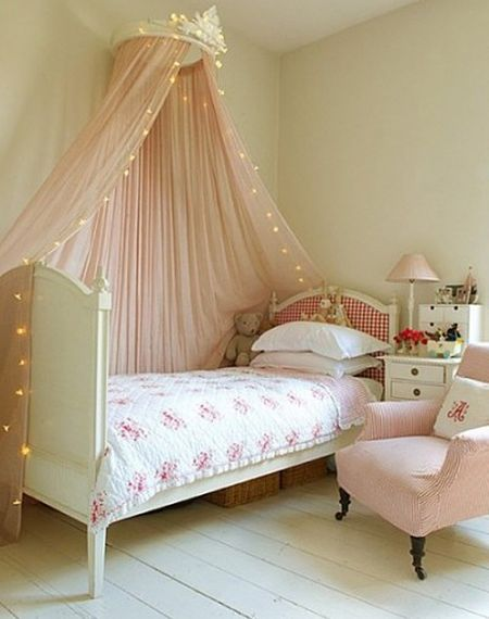 Sweet S Room With Crown Canopy Over Bed
