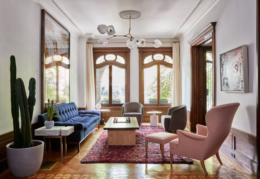 Traditional living room in Brooklyn