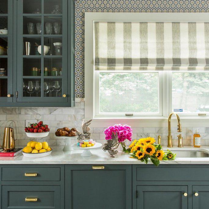 26 Kitchen Paint Color Ideas You Can, Blue Green Kitchen Cabinet Paint