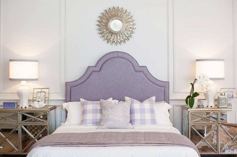 Glamorous purple bedroom
