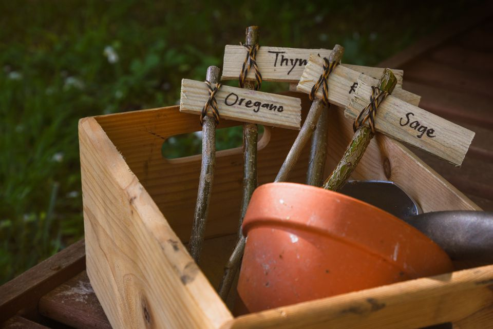 Herb markers for garden