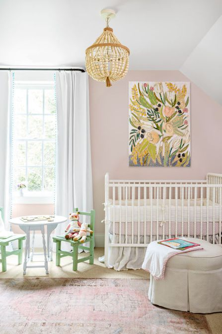 Soft pink nursery room