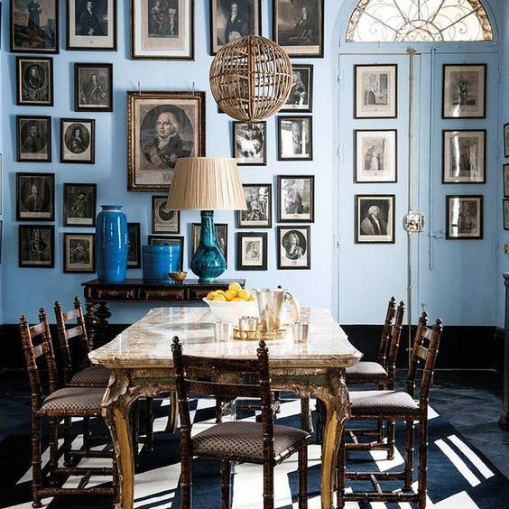 eclectic style in dining room