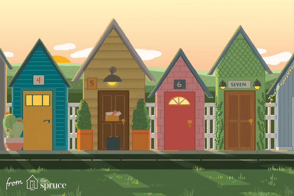 tiny house communities illustration