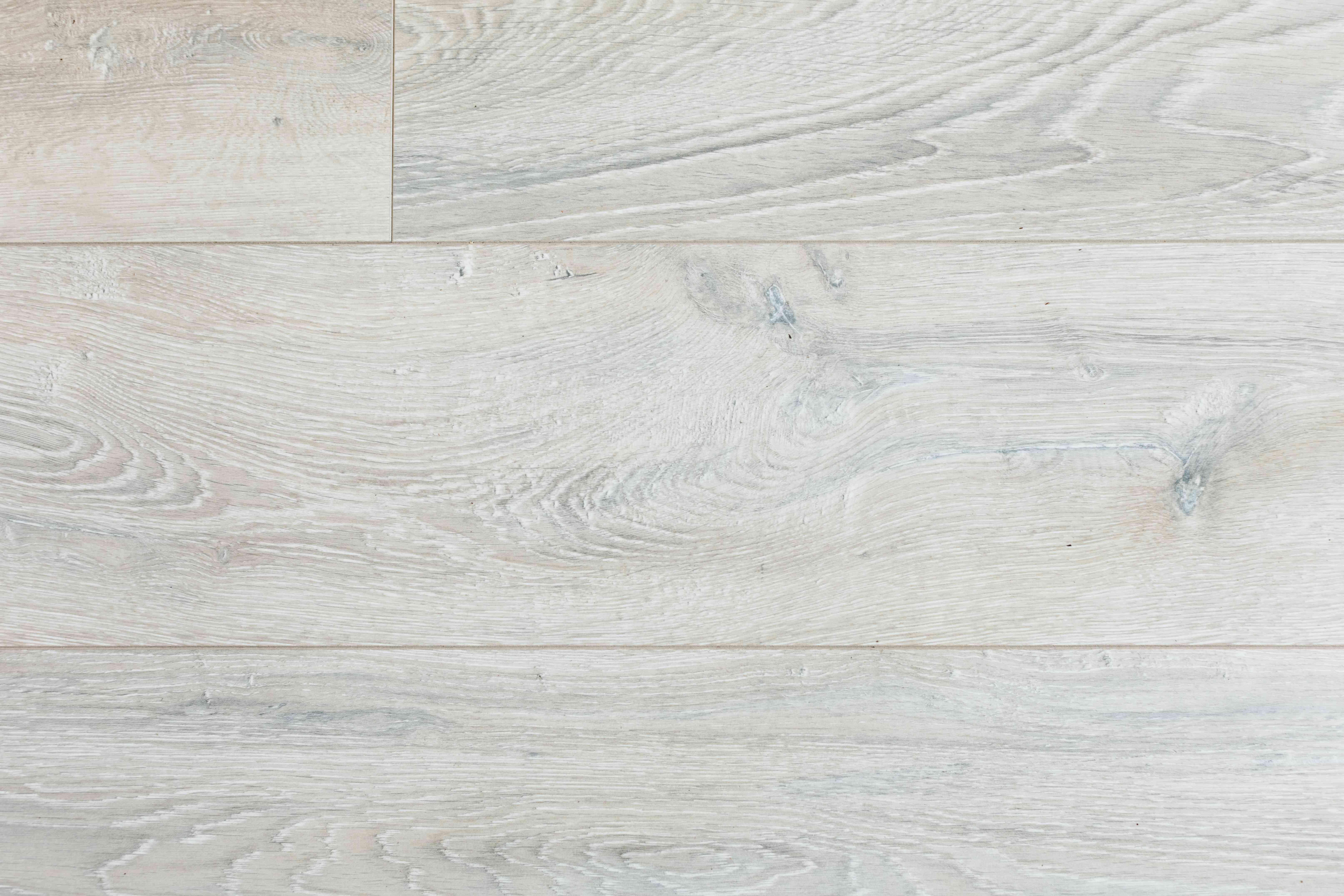 Overhead shot of laminate flooring as light wood closeup