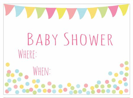 Baby Shower Banner Invitation