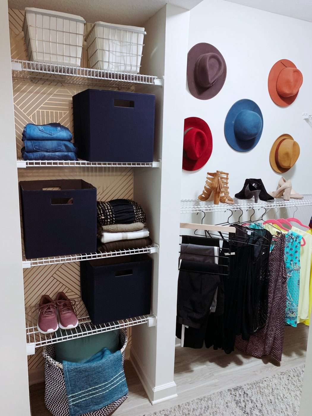 room for hats in walk-in closet