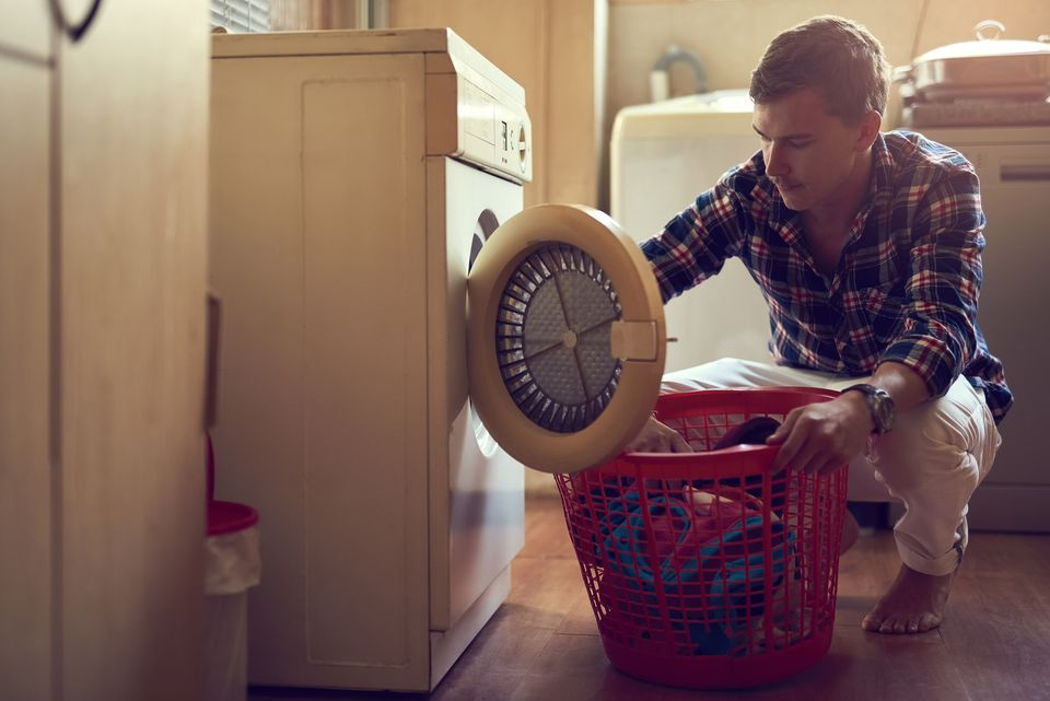 A man doing laundry