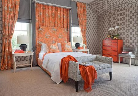 Orange and black bedroom. 100 Master Bedroom Design Ideas and Photos