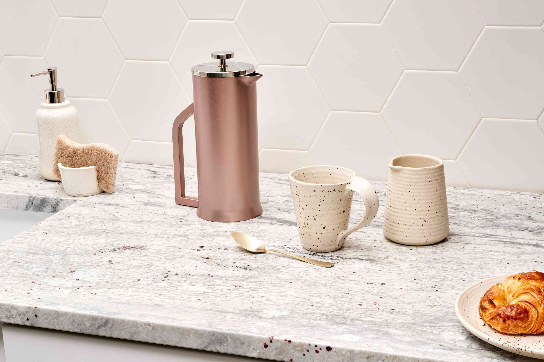 Slab granite kitchen countertop