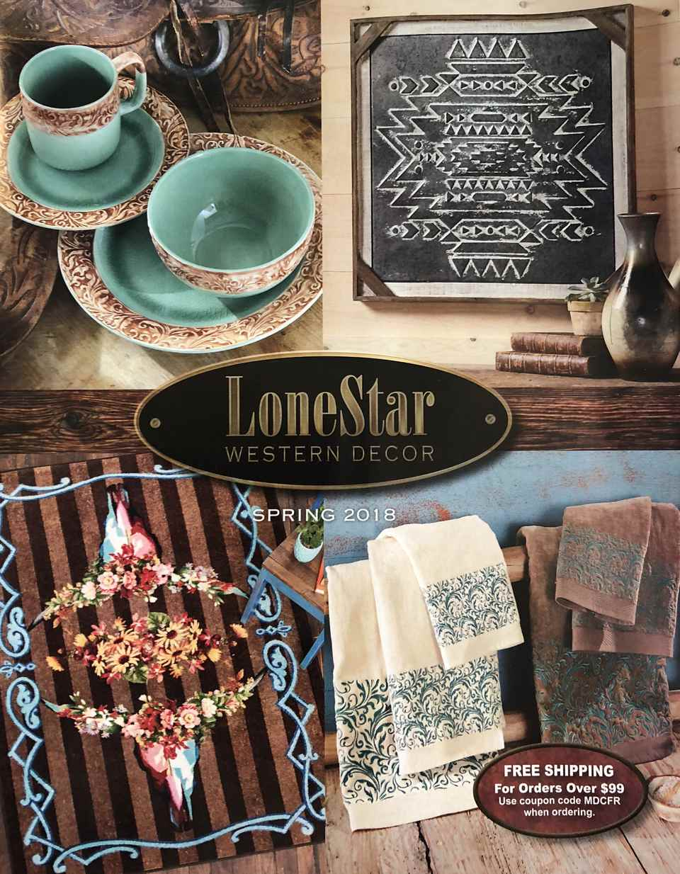 The cover of the 2018 LoneStar Western Decor catalog