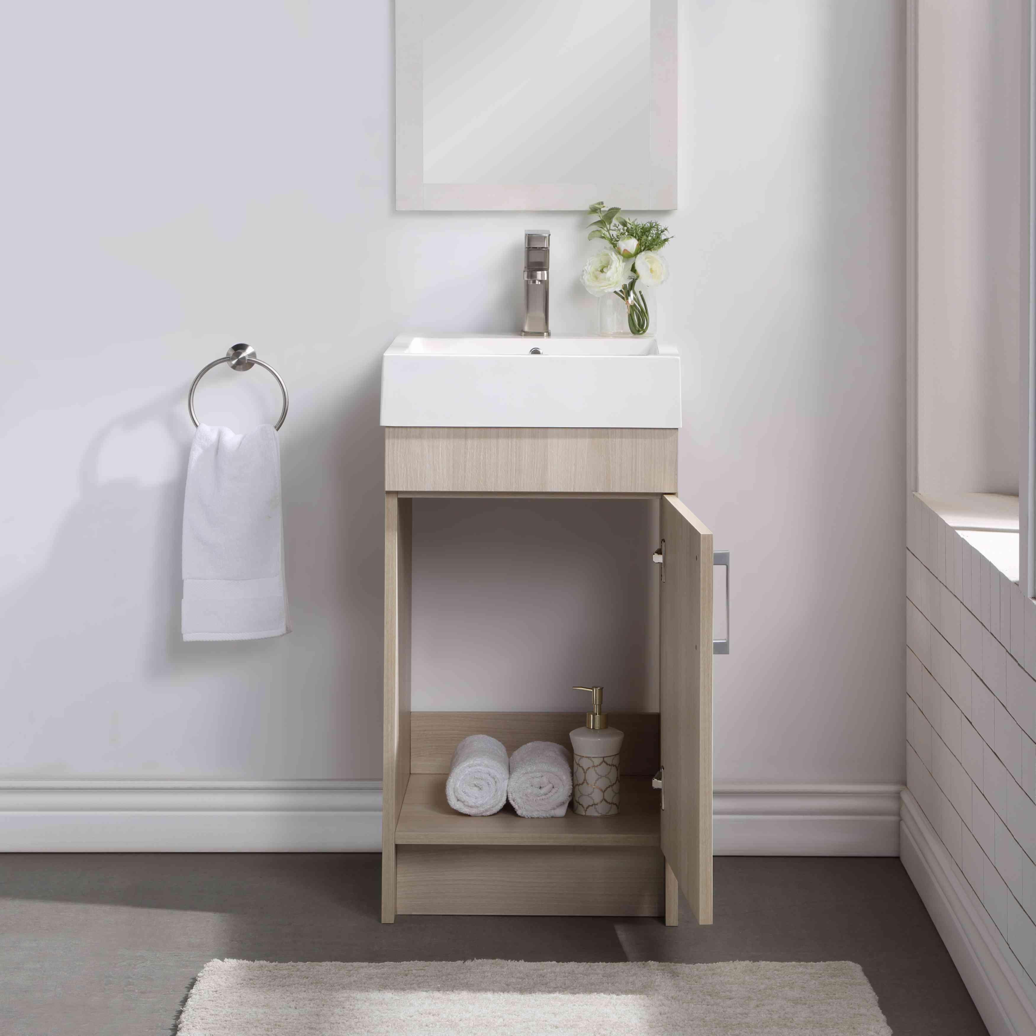 Mainstays Farmhouse Single Sink Bathroom Vanity