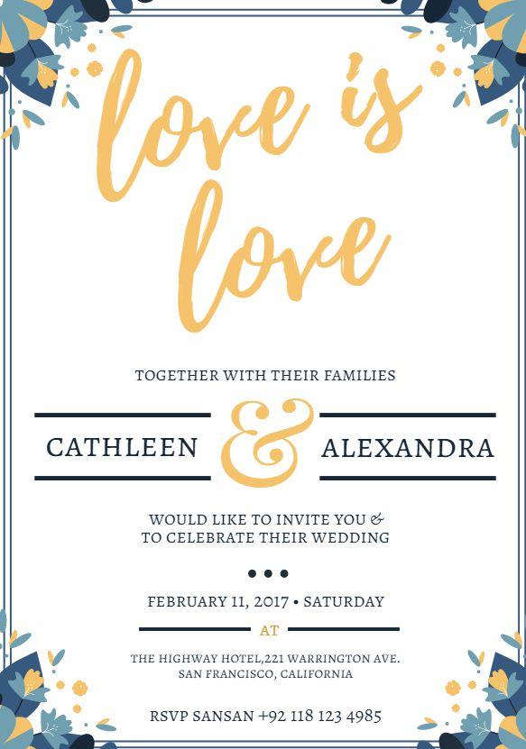 550 free wedding invitation templates you can customize stopboris Gallery