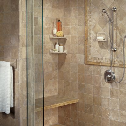 American Olean Travertine Tile Bath