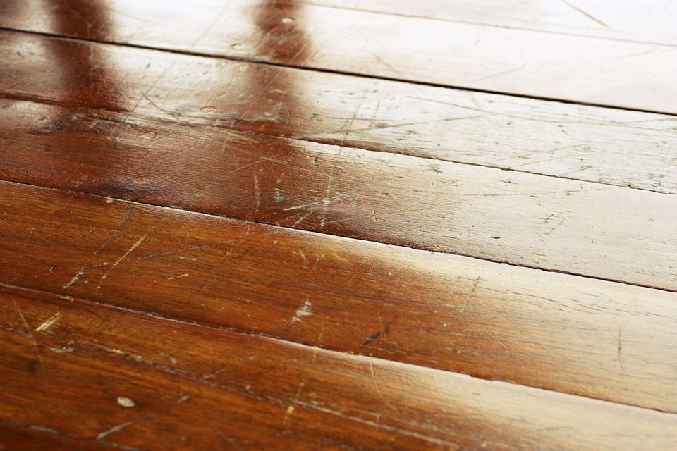 Scratched Hardwood Floor