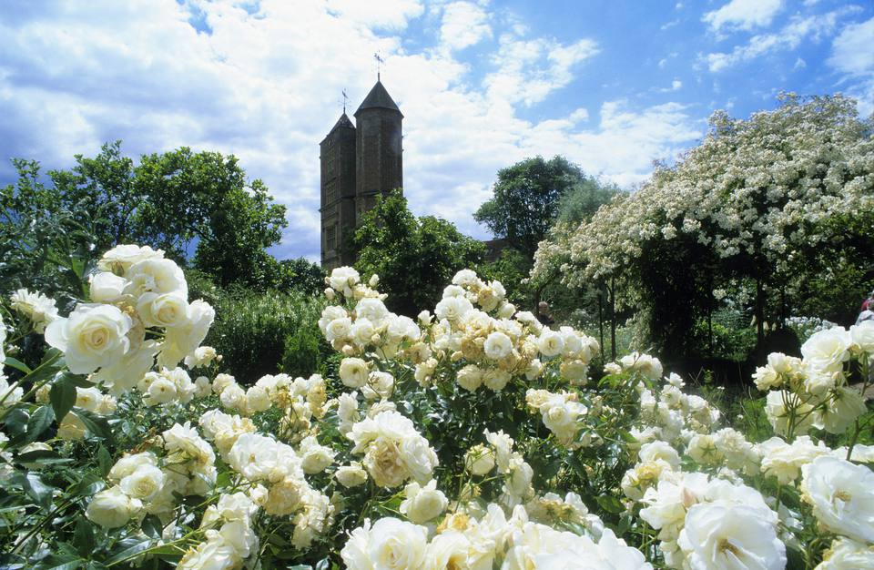 The White Garden at Sissinghurst Castle