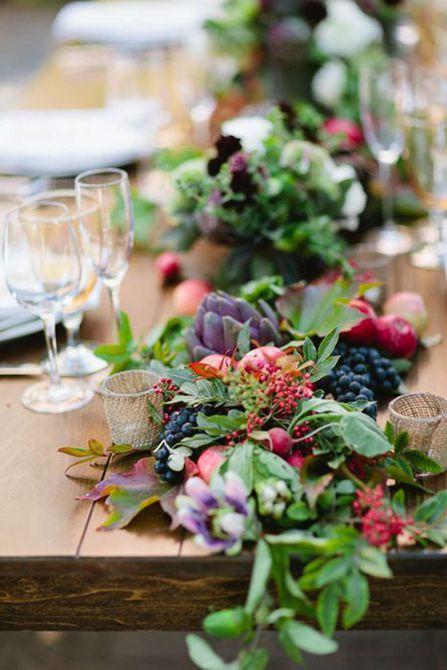 Centro de mesa para bodas de Rich Rose Fall