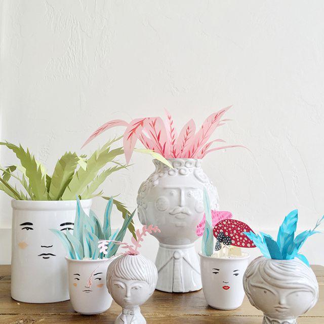 Paper Plant Centerpieces
