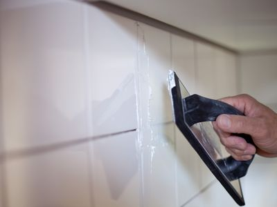 grout float on tile