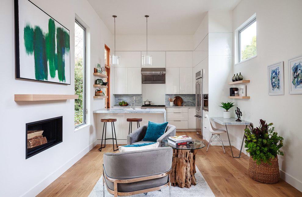 pequeña casa cocina muy moderna
