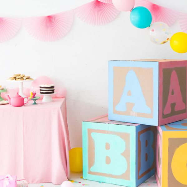 DIY Giant Baby Block Decorations , DIY Wishes For Baby Activity