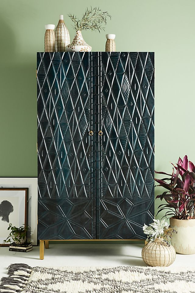 Anthropologie Portland Carved Armoire