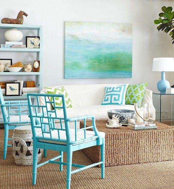 Sala de estar de estilo playero