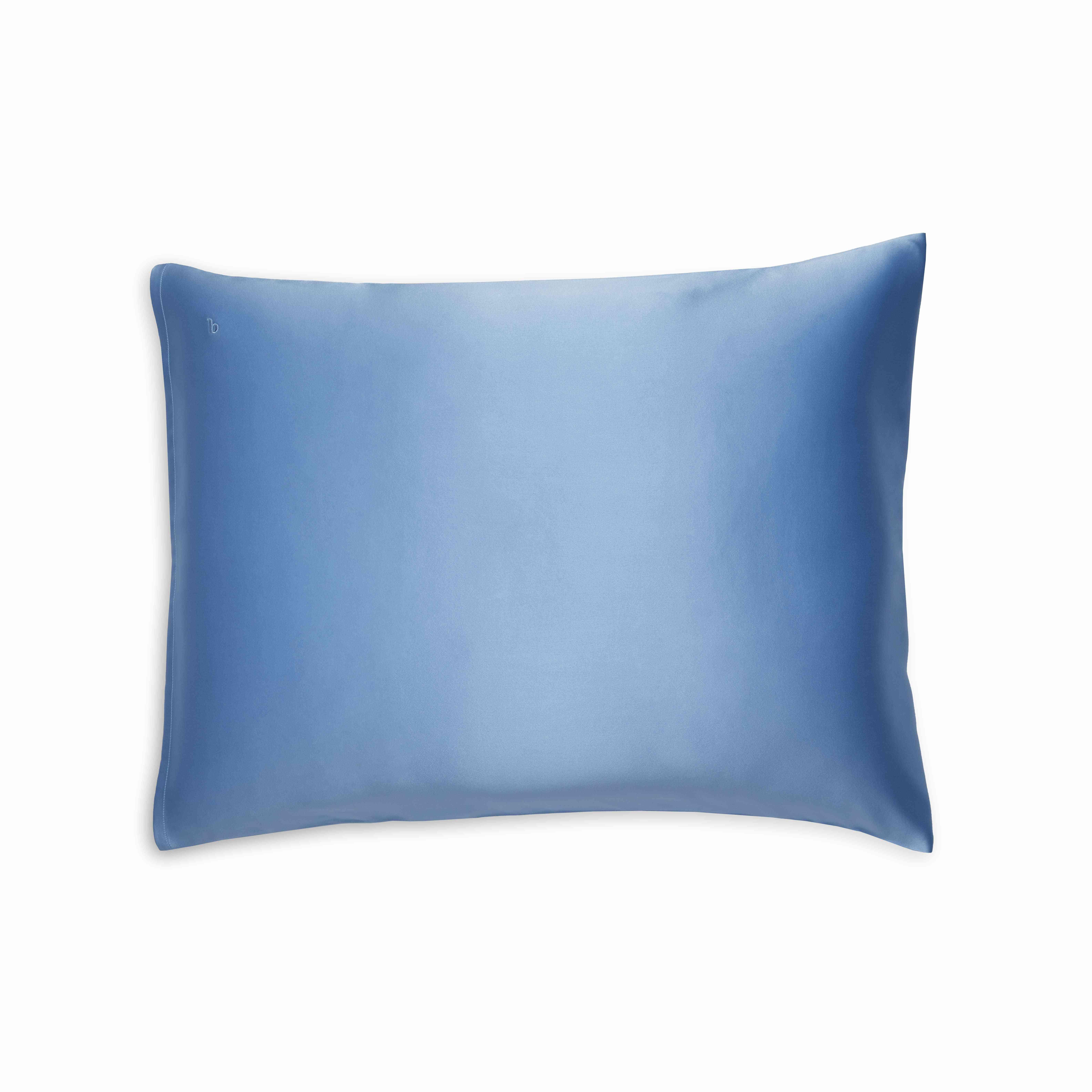 Brooklinen silk pillowcase in cerulean