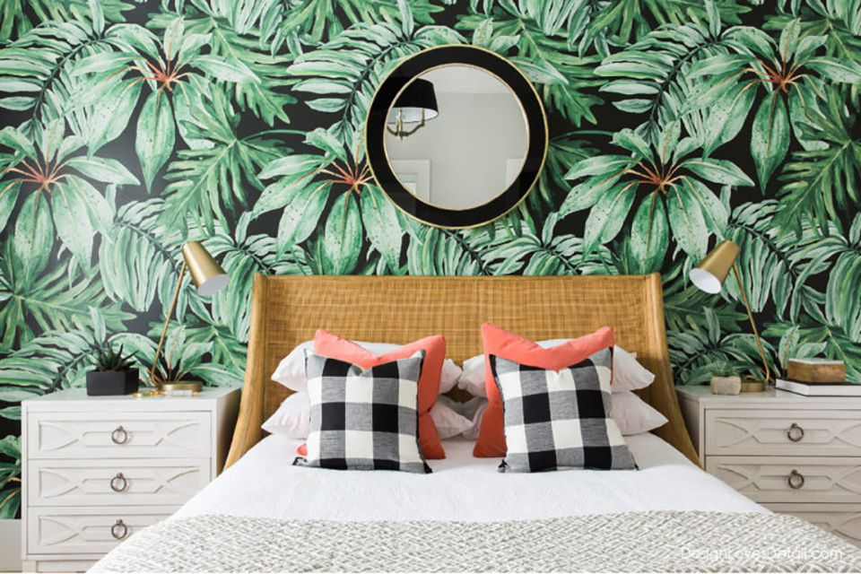 Room with Tropical wallpaper